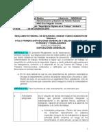 REGLAMENTO FEDERAL DE SEGURIDAD E HIGIENE MEXICO
