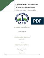 Rivera Glenda Planificacion e Implementacion Currilar II Tarea I 30-05-2015
