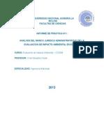 ANÁLISIS DEL MARCO JURIDICO ADMINISTRATATIVO DE LA EVALUACIÓN DE IMPACTO AMBIENTAL EN EL PERÚ