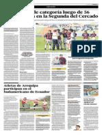 Piérola bajó de categoría luego de 56 años y jugará en la Segunda del Cercado (El Comercio 30-05-2015)
