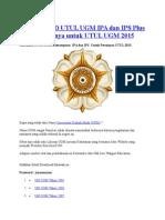 Download Utul Ugm Ipa Dan Ips Plus Pembahasannya Untuk Utul Ugm 2015