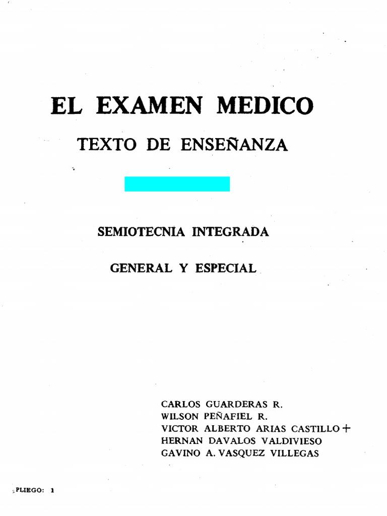 El examen medico guarderas