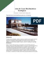 Construcción de Casas Bioclimáticas Ecológicas