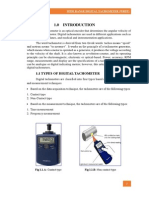 Digital Tachometer Project Report