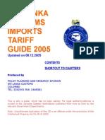 Sri Lanka Customs tariff - 2005