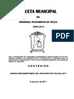 05_21_Gaceta 08 de Junio Código Reglamentario Del Municipio de Toluca 2011