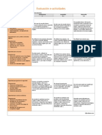 Evaluación e Actividades