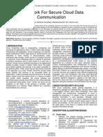 Framework for Secure Cloud Data Communication