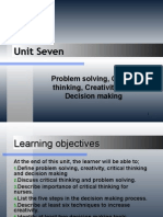 Unit 7-Problem solving, Critical thinking, Creativity, and Decision making.ppt