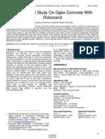 Performance Study on Ggbs Concrete With Robosand