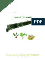 Proiect Tematic Legume de Primavara