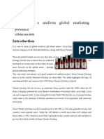 Developing a Uniform Global Marketing Presence
