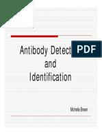 Antibody detection lecture presentation handout