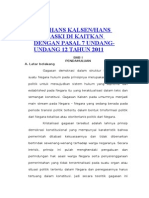 TEORI HANS KALSENHANS NAWIASKI DI KAITKAN DENGAN PASAL 7 UNDANG-UNDANG 12 TAHUN 2011.doc