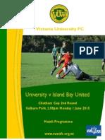 VUWAFC Programme 2015-3