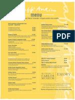 caffe antico menu