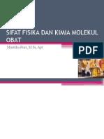 Sifat Fisika Dan Kimia Molekul Obat
