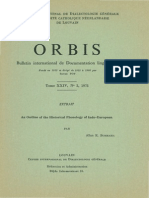 Bomhard - An Outline of the Historical Phonology of Indo-European (1975)