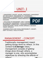 • Management Concept, Nature, Importance, Management Art