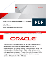 Fusion Procurement Contracts - Overview
