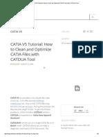 CATIA V5 Tutorial_ How to Clean and Optimize CATIA Files With CATDUA Tool