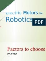 Electric Motors for Robotics