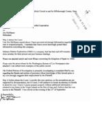 McManus Letter to court 10 8 07