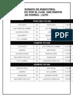 Campeonato de Minifutbol Organizado Por El Club