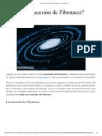 ¿Qué Es La Sucesión de Fibonacci_ - Ojo Curioso