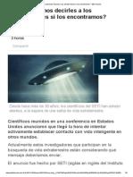 ¿Qué Podríamos Decirles a Los Extraterrestres Si Los Encontramos_ - BBC Mundo