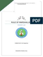 Law of Marshalling