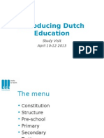 Dutch Education System (March 2013)