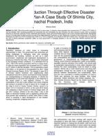 Urban Risk Reduction Through Effective Disaster Management Plan a Case Study of Shimla City Himachal Pradesh India