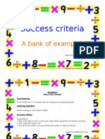 Success Criteria Bank of Examples