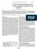 Effect of High Free Fatty Acid Feedstock on Methyl Esters Yield Using Bulk Calcium Oxide Catalyst