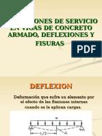 condiciones de Servicio Para Vigas en Flexion