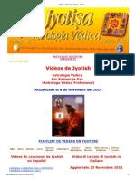 VIDEOS Jyotish - Astrologia Vedica - Hindu