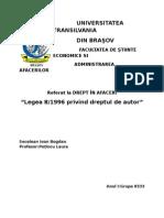 Secelean Ioan Bogdan Legea Dreptului de Autor