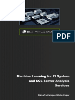 Machine Learning for PI System and SQL Server Analysis Services