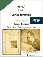 NENÉ. Pasillo. Carlos Escamilla. Transc. piano Gerardo Betancourt.