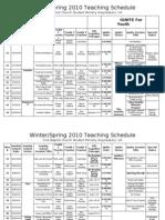 Spring-Summer 2010 Teaching Plan
