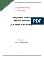 Terjemah Hadits Arba'in Nawawi Dan Faidah-faidahnya