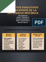 1 Aspectos Evolutivos y Educativos de La Deficiencia Motórica