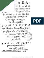 Gramáticas - 1587 - Benito Ruiz - Declaración de Las Bozes i Pronunçiaçiones Que Ái en Nuestra Lengua Castellana