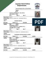 Evergreen Park Arrests May 25-31, 2015