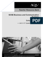 AQA GCSE Unit 8 Business and Communications Scheme of Work 2010