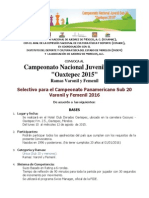 Convocatoria Campeonato de Ajedréz Oaxtepec 2015
