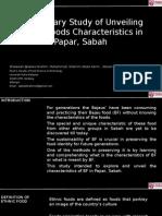 Preliminary Study of Unveiling Bajau Foods Characteristics in Papar, Sabah