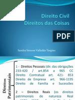 Direito Civil Coisas - Profª. Sandra Targino