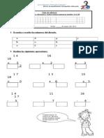 Guía de Refuerzo Dictado , Adiciones y Sustraciones 1 Al 20 1ºTorres